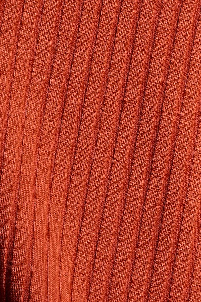 Gestreiftes Longsleeve aus Rippstrickjersey, BLACK, detail image number 4