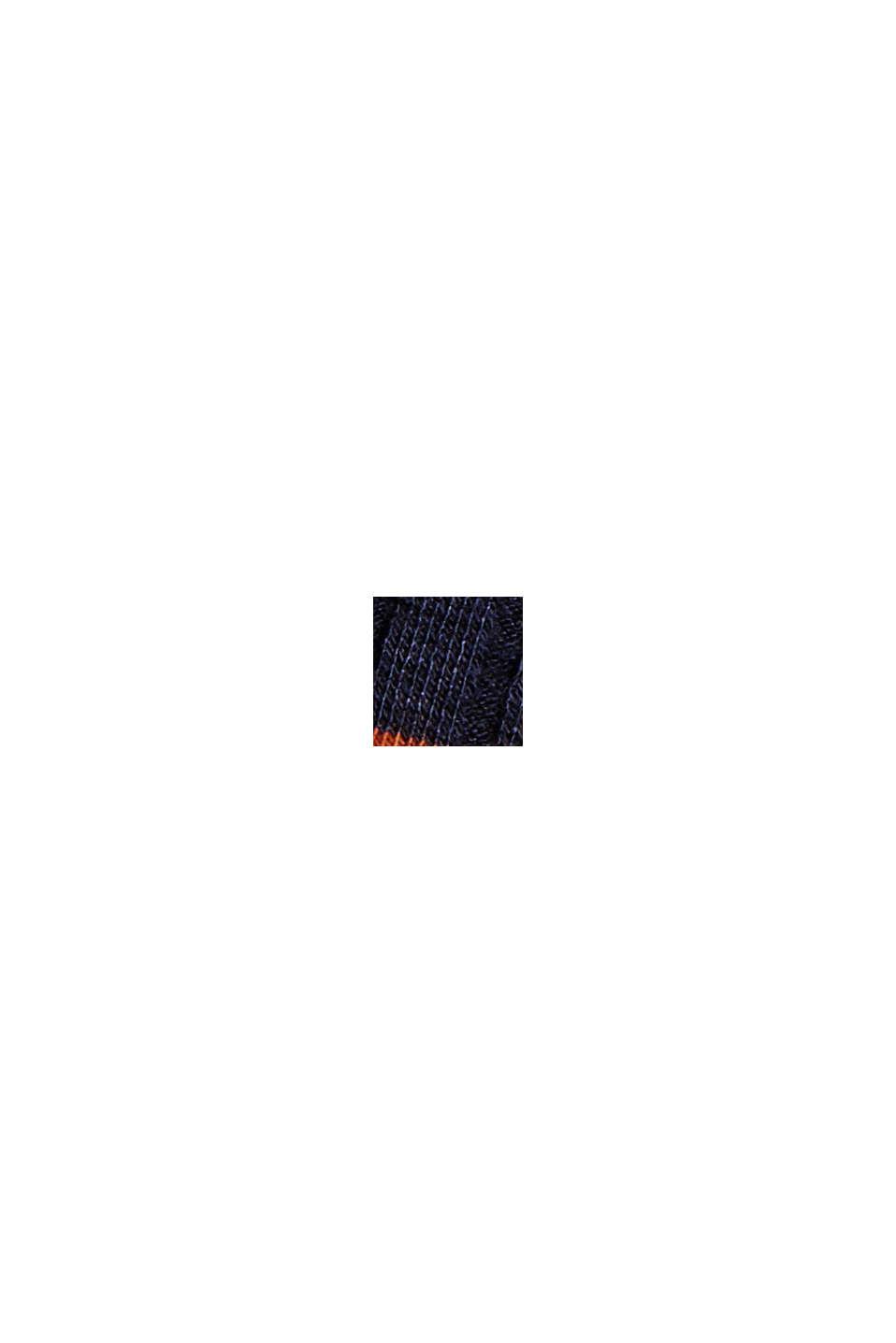 T-shirt rayé à manches longues en jersey de maille côtelée, NAVY, swatch
