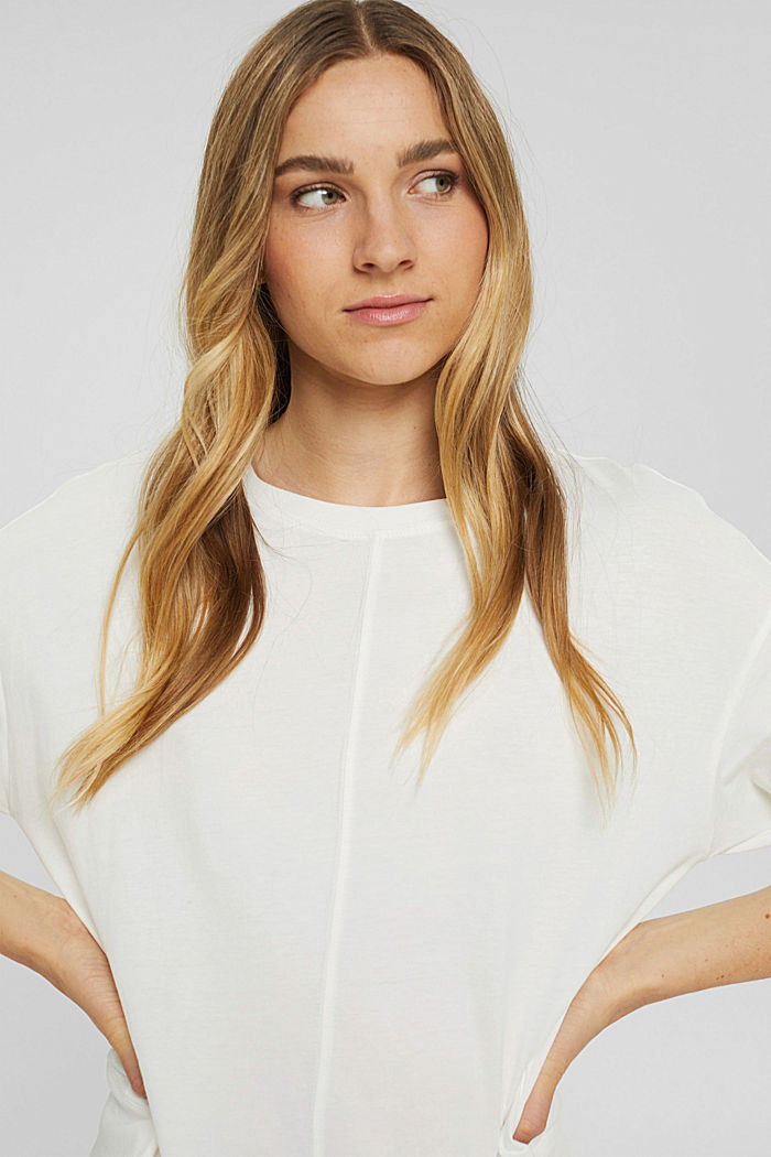 Soft long sleeve top made of 100% organic cotton, OFF WHITE, detail image number 5