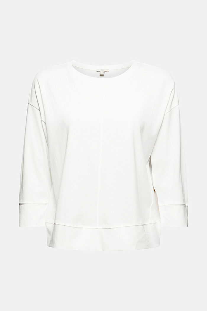 Soft long sleeve top made of 100% organic cotton, OFF WHITE, detail image number 6