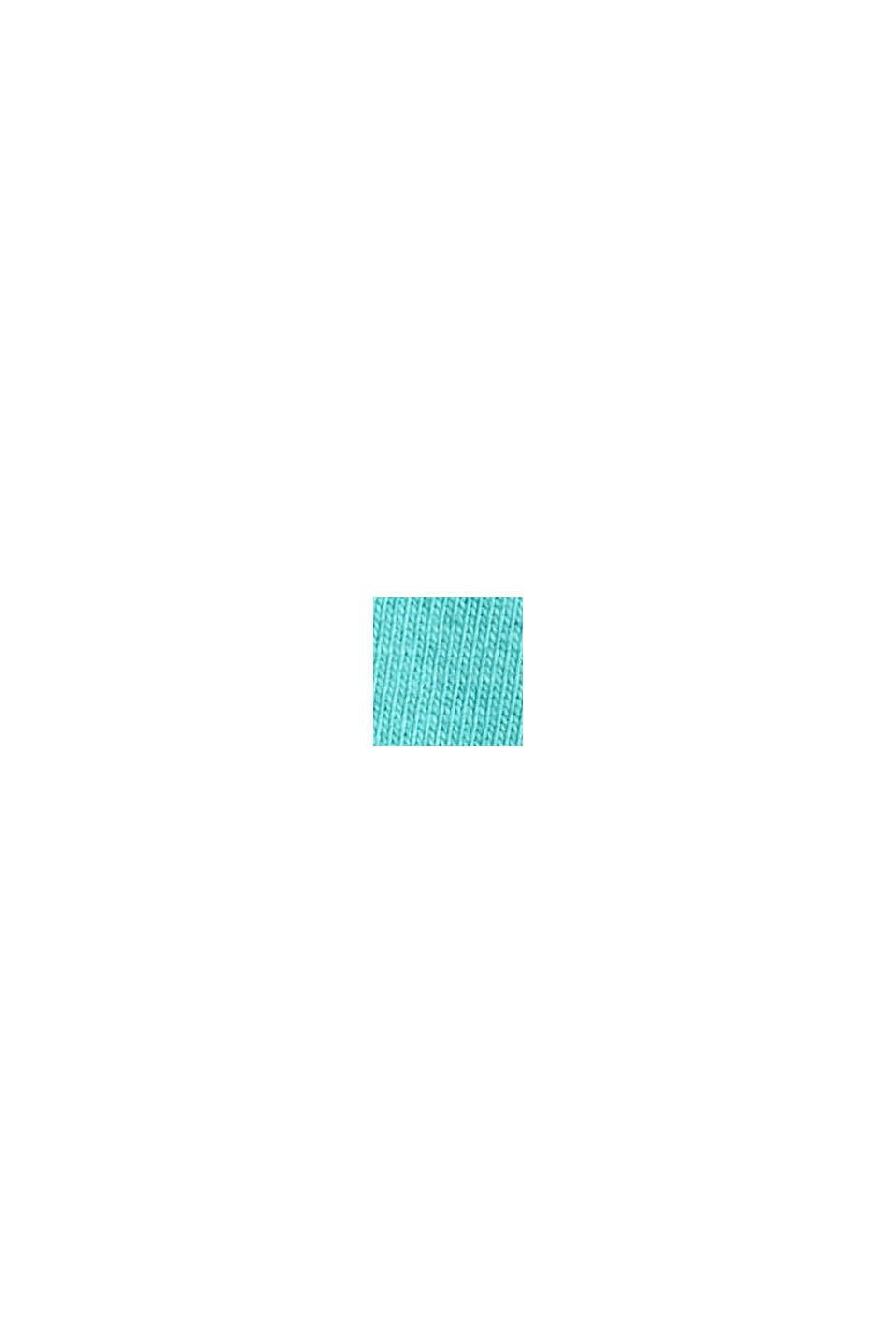 Soft long sleeve top made of 100% organic cotton, AQUA GREEN, swatch