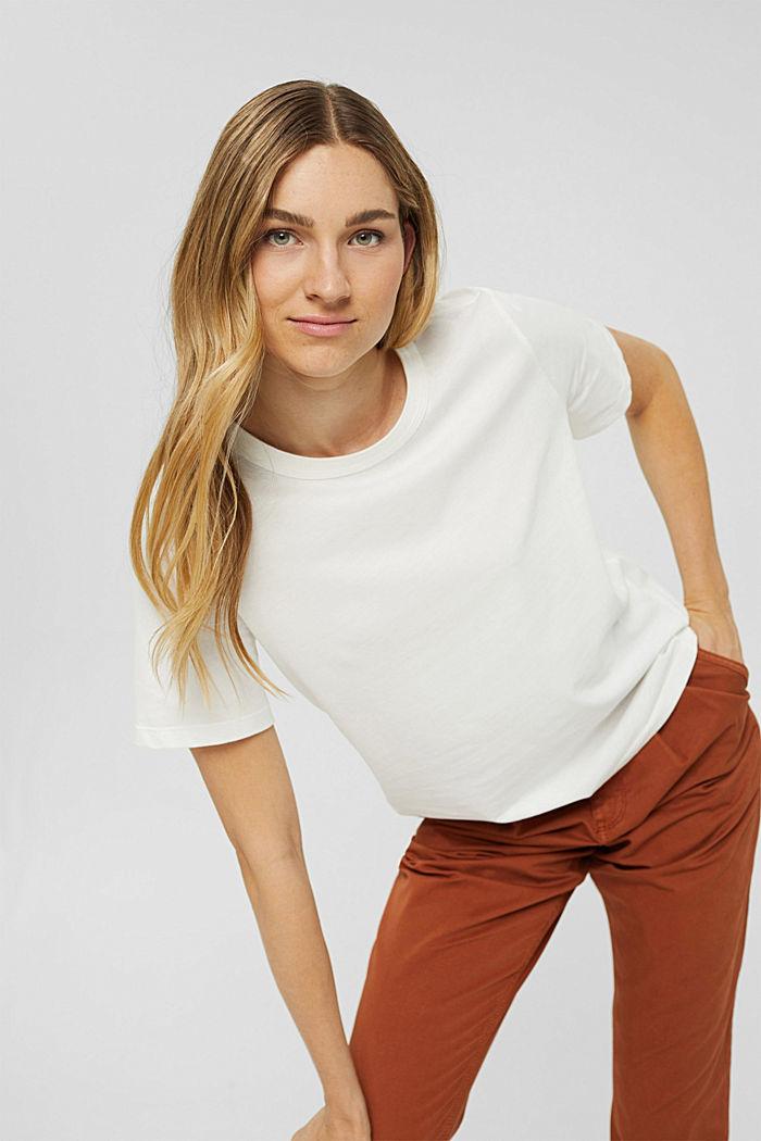 Weiches T-Shirt aus 100% Bio-Baumwolle, OFF WHITE, detail image number 0