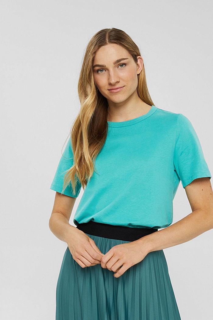 Weiches T-Shirt aus 100% Bio-Baumwolle, AQUA GREEN, detail image number 0