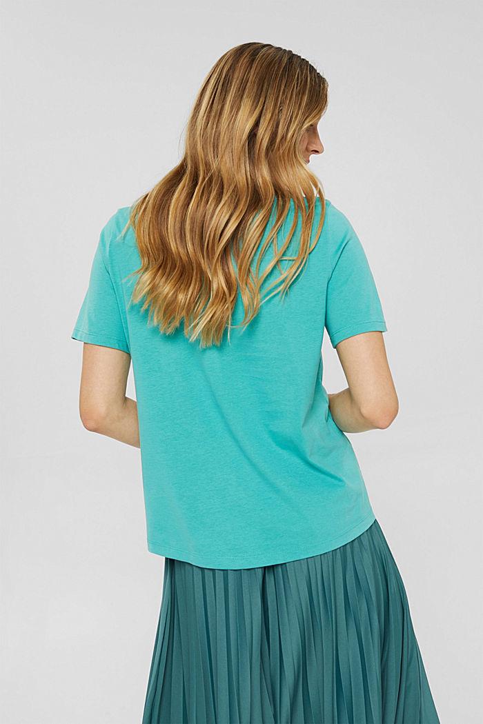 Weiches T-Shirt aus 100% Bio-Baumwolle, AQUA GREEN, detail image number 3