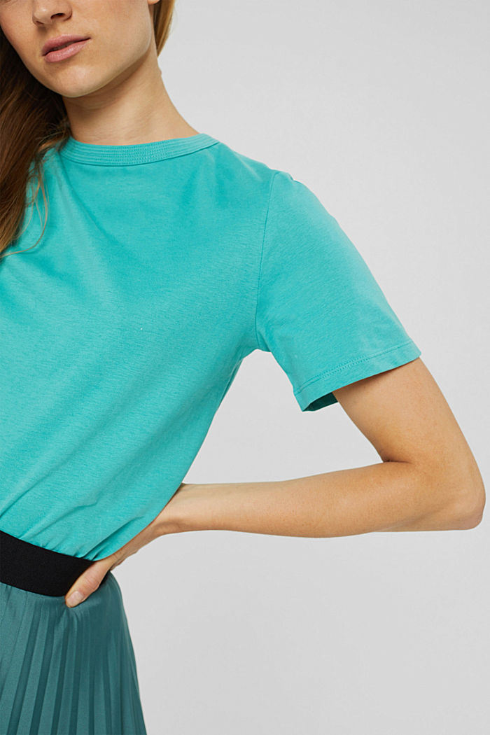 Weiches T-Shirt aus 100% Bio-Baumwolle, AQUA GREEN, detail image number 2