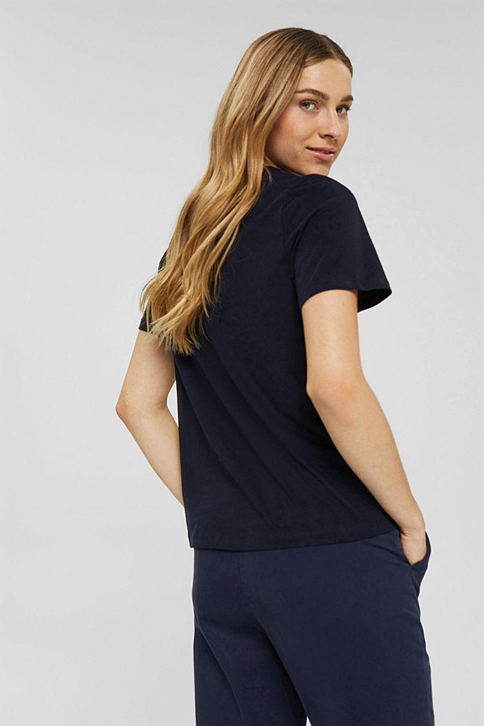 Weiches T-Shirt aus 100% Bio-Baumwolle, NAVY, detail image number 3