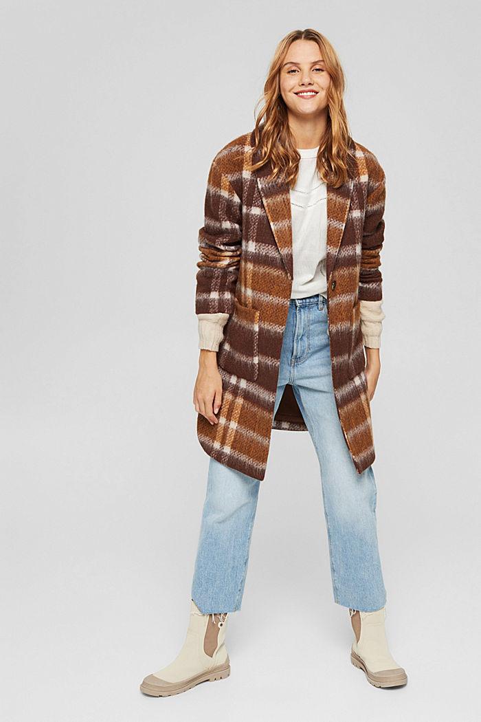 Crinkled blouse met opengewerkt borduursel, mix met biologisch katoen, OFF WHITE, detail image number 1