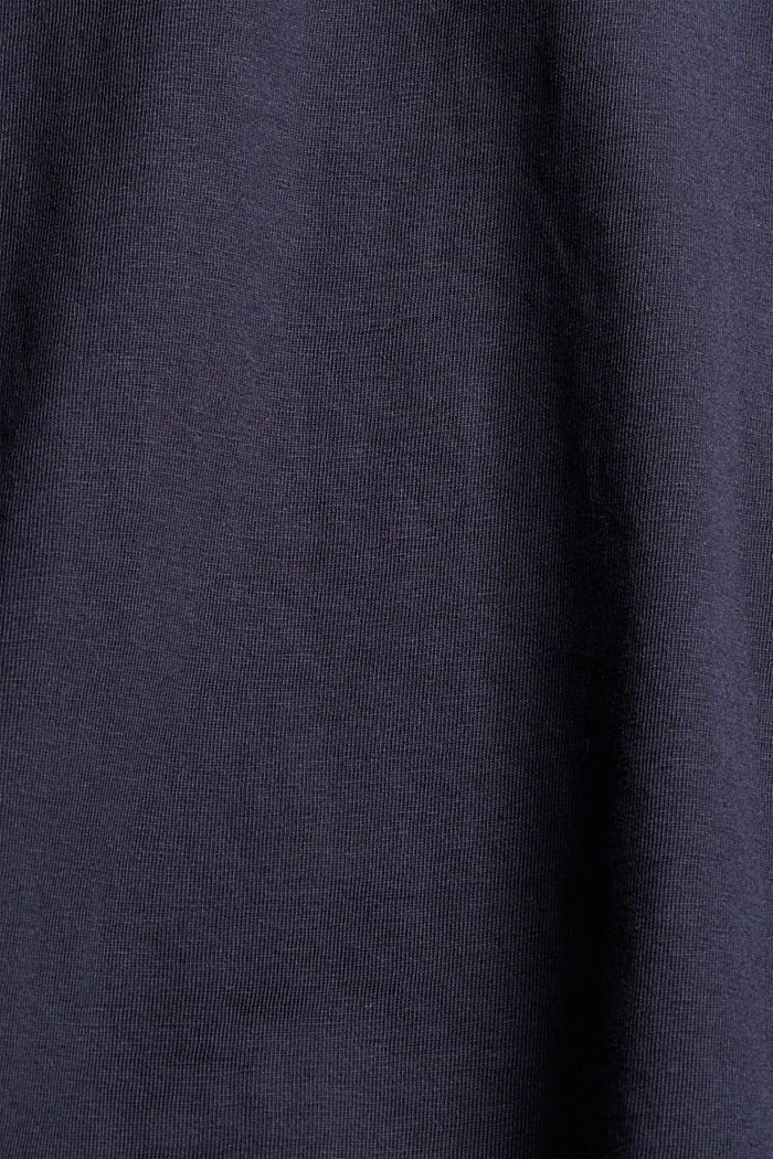T-shirt with flock print, 100% organic cotton, NAVY, detail image number 4