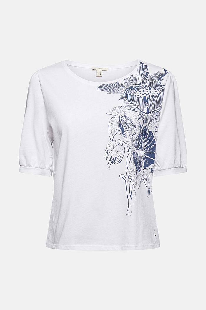 T-Shirt mit Ballonärmeln, 100% Bio-Baumwolle, WHITE, detail image number 6