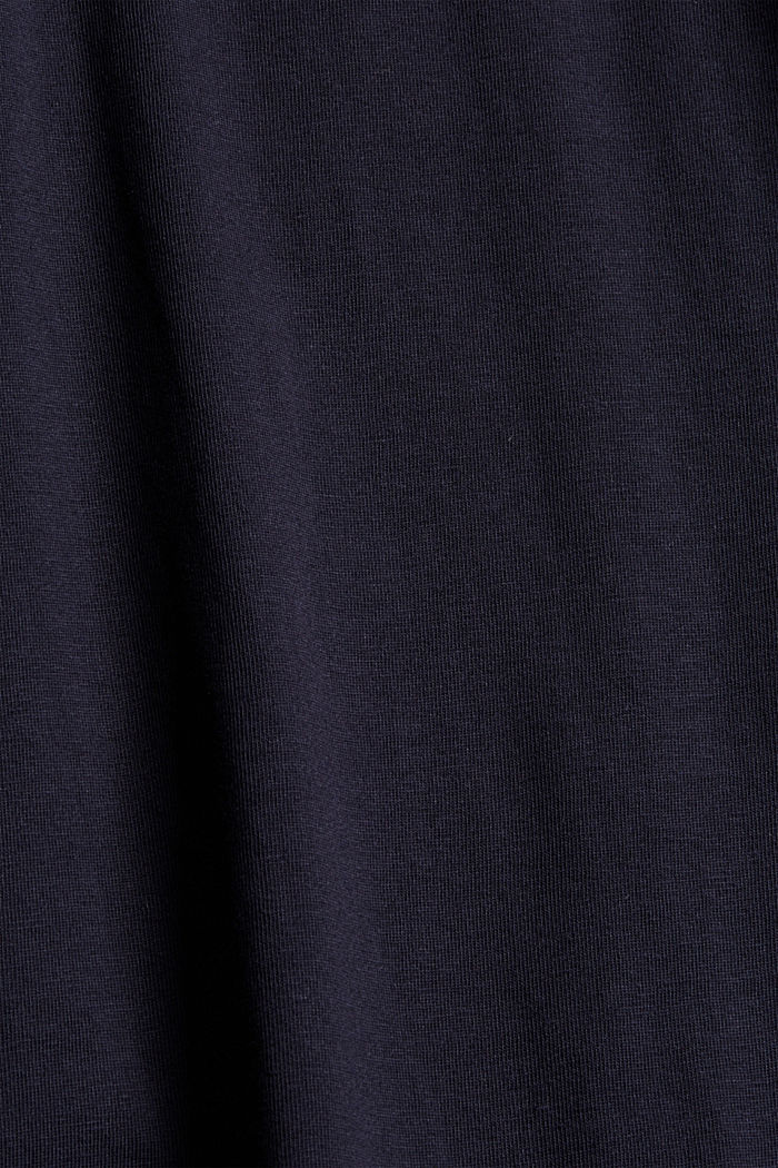 T-shirt met ballonmouwen, 100% biologisch katoen, NAVY, detail image number 4