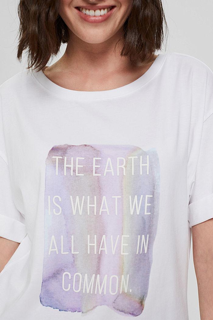 Printed T-shirt, 100% organic cotton, WHITE, detail image number 2