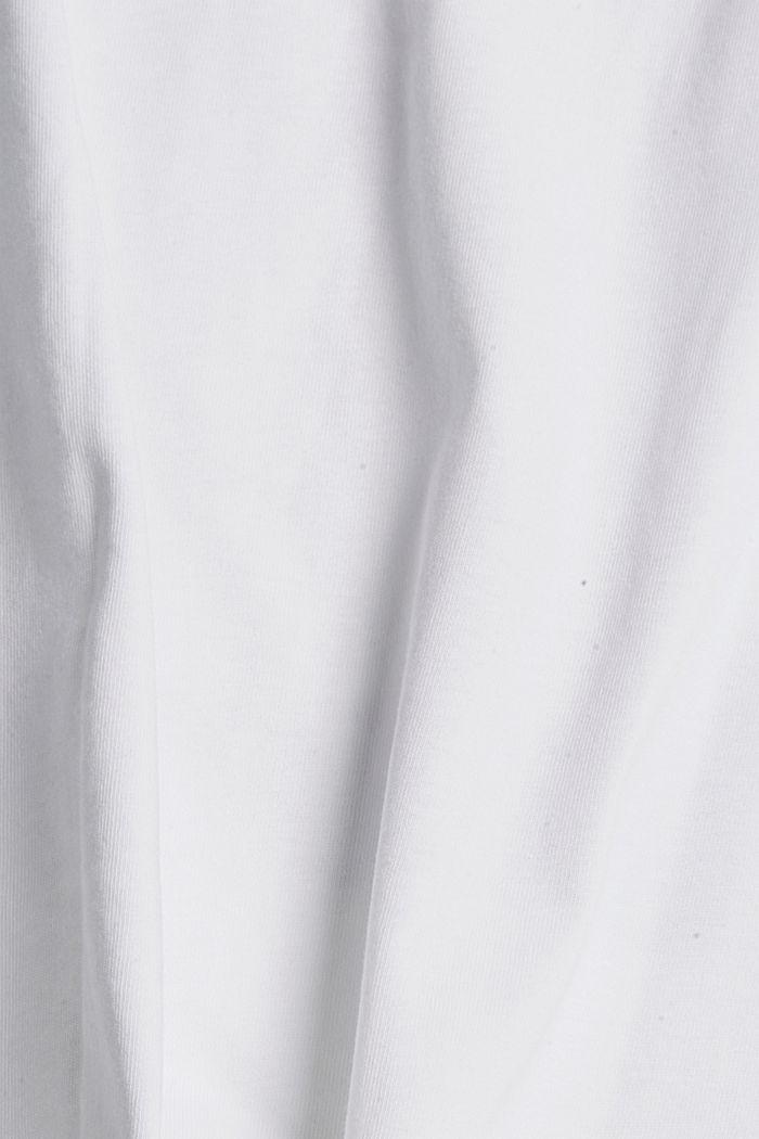 Printed T-shirt, 100% organic cotton, WHITE, detail image number 4