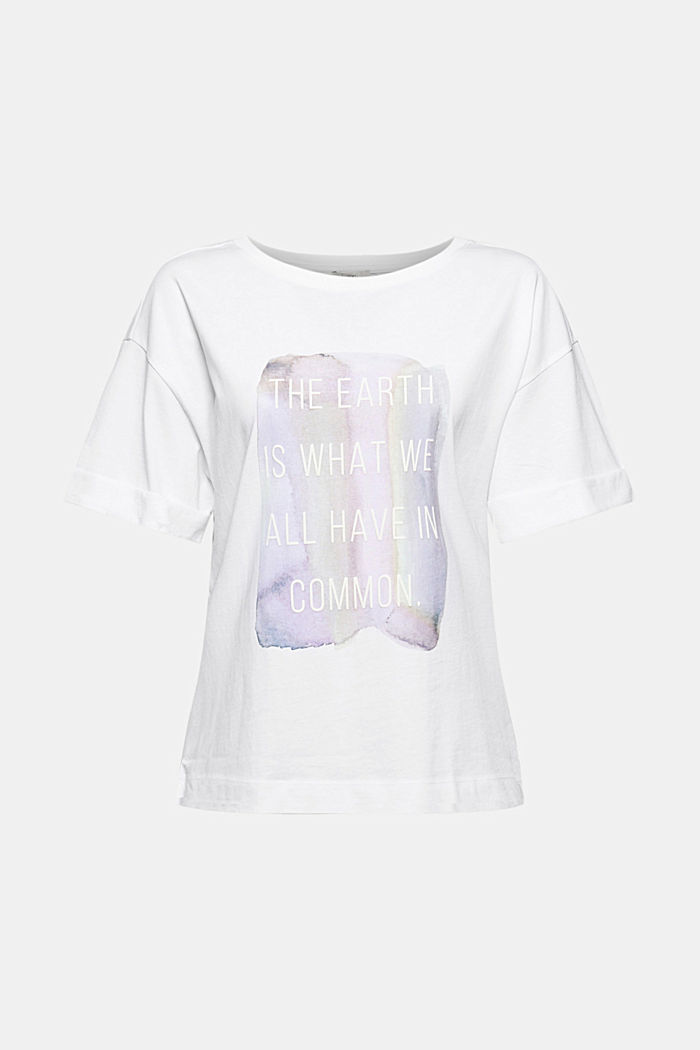 T-shirt met print, 100% organic cotton