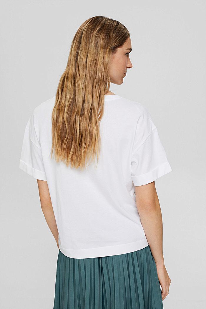 T-shirt met print, 100% organic cotton, NEW WHITE, detail image number 3