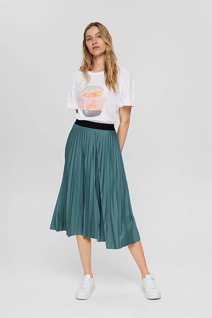 T-shirt met print, 100% organic cotton, NEW WHITE, detail image number 1