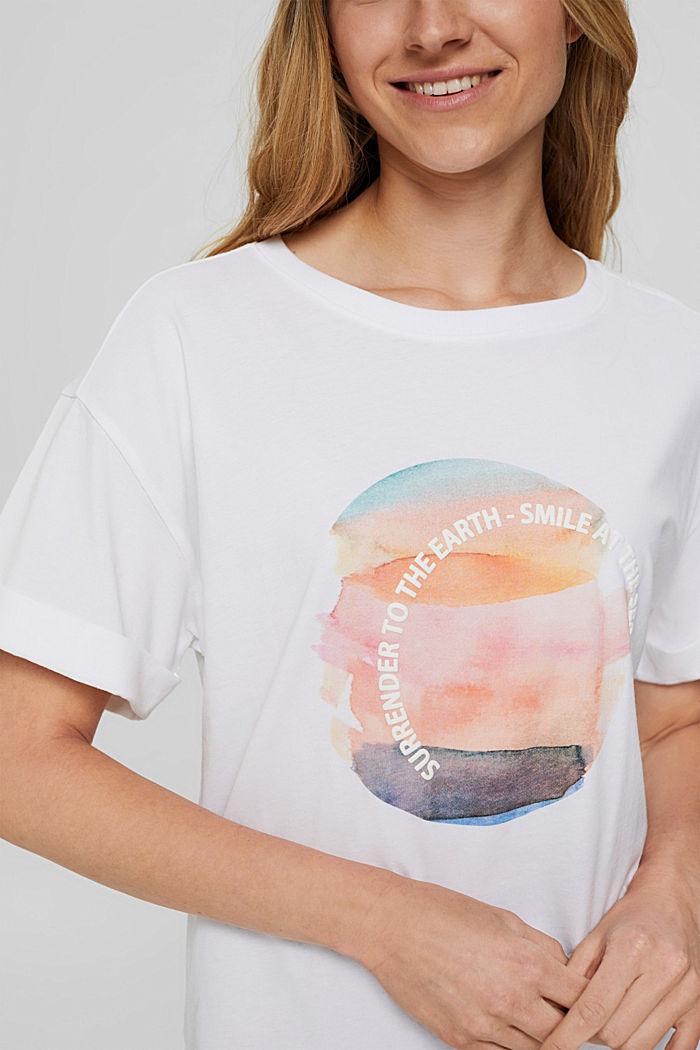 T-shirt met print, 100% organic cotton, NEW WHITE, detail image number 2