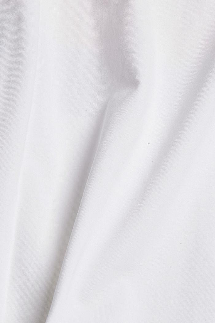 T-shirt met print, 100% organic cotton, NEW WHITE, detail image number 4