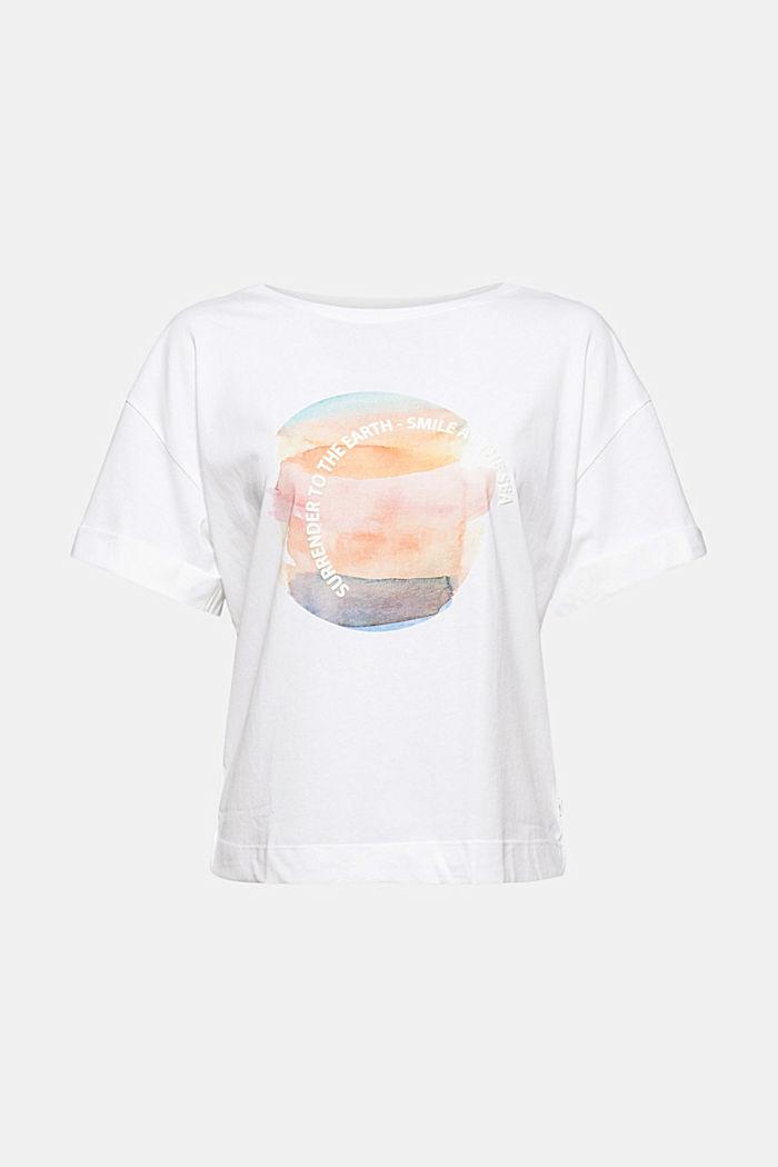 T-shirt met print, 100% organic cotton, NEW WHITE, detail image number 5
