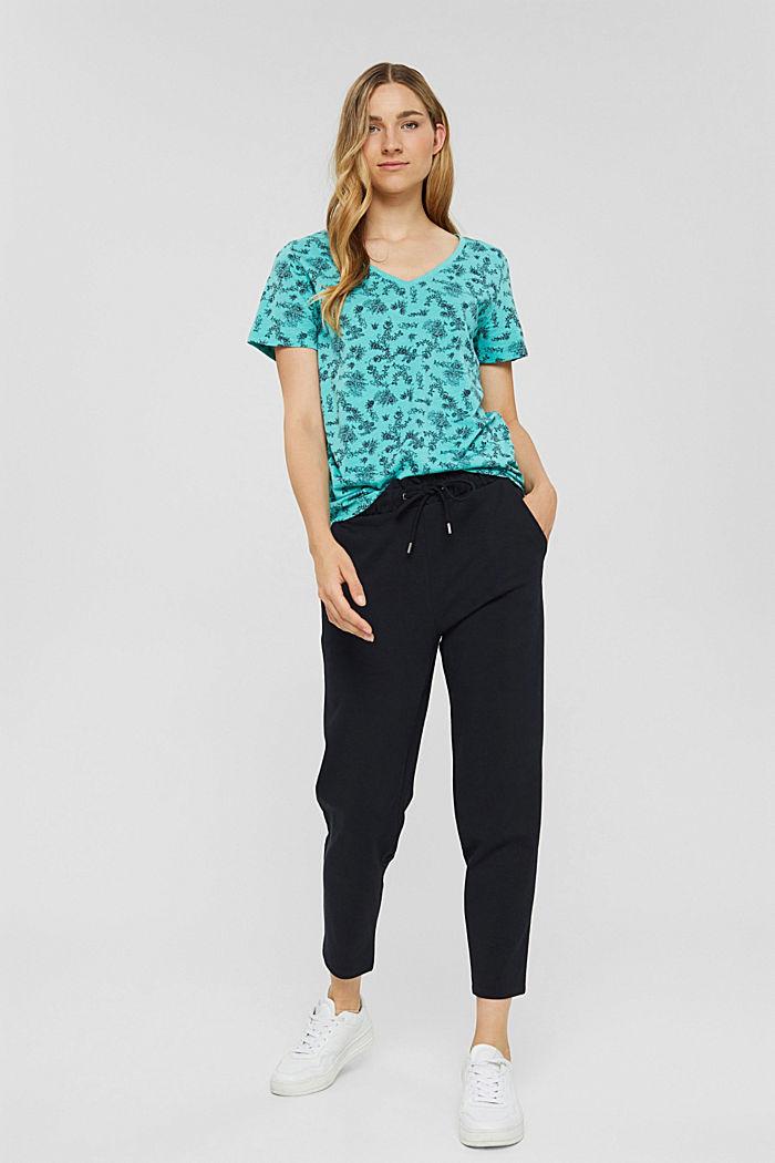 T-shirt 100 % coton biologique, AQUA GREEN, detail image number 1