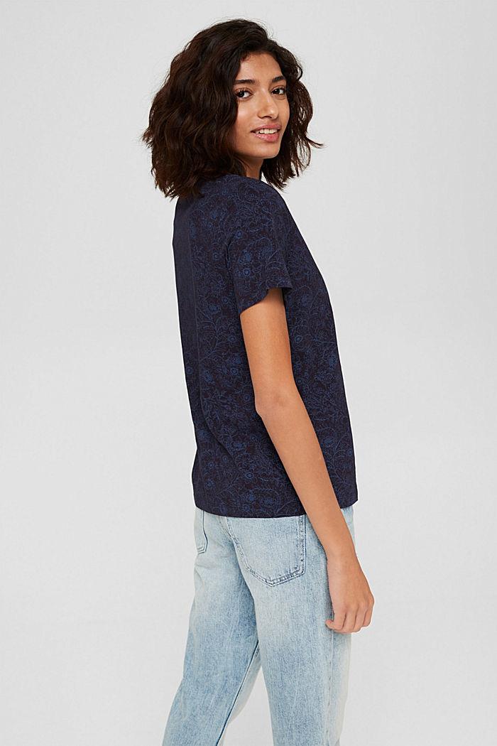 T-Shirt aus 100% Organic Cotton, NAVY, detail image number 3