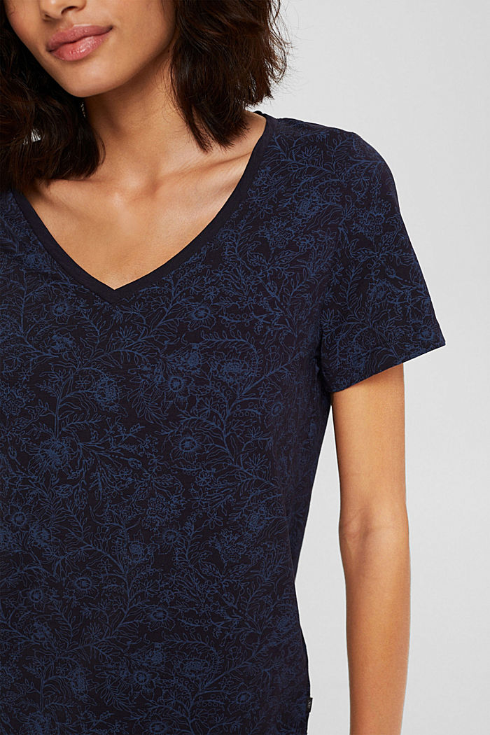 T-Shirt aus 100% Organic Cotton, NAVY, detail image number 2