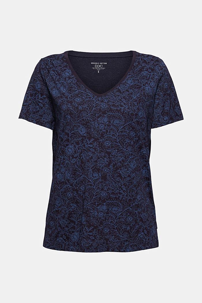 T-Shirt aus 100% Organic Cotton, NAVY, detail image number 5