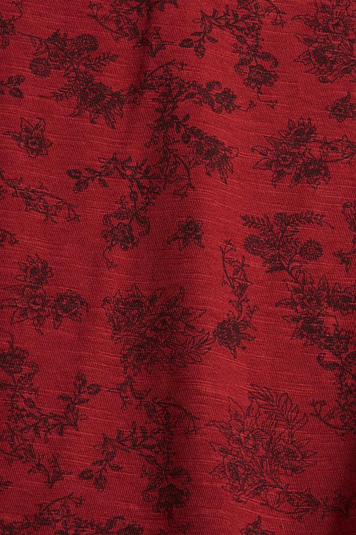 T-shirt 100 % coton biologique, DARK RED, detail image number 4