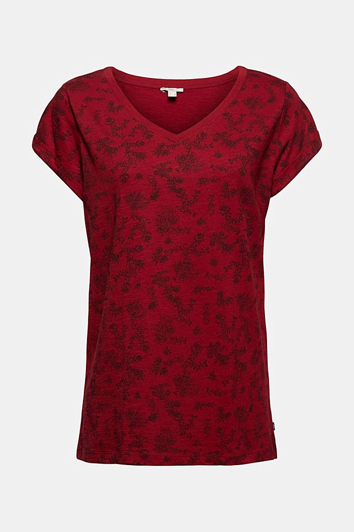 T-shirt 100 % coton biologique, DARK RED, detail image number 5