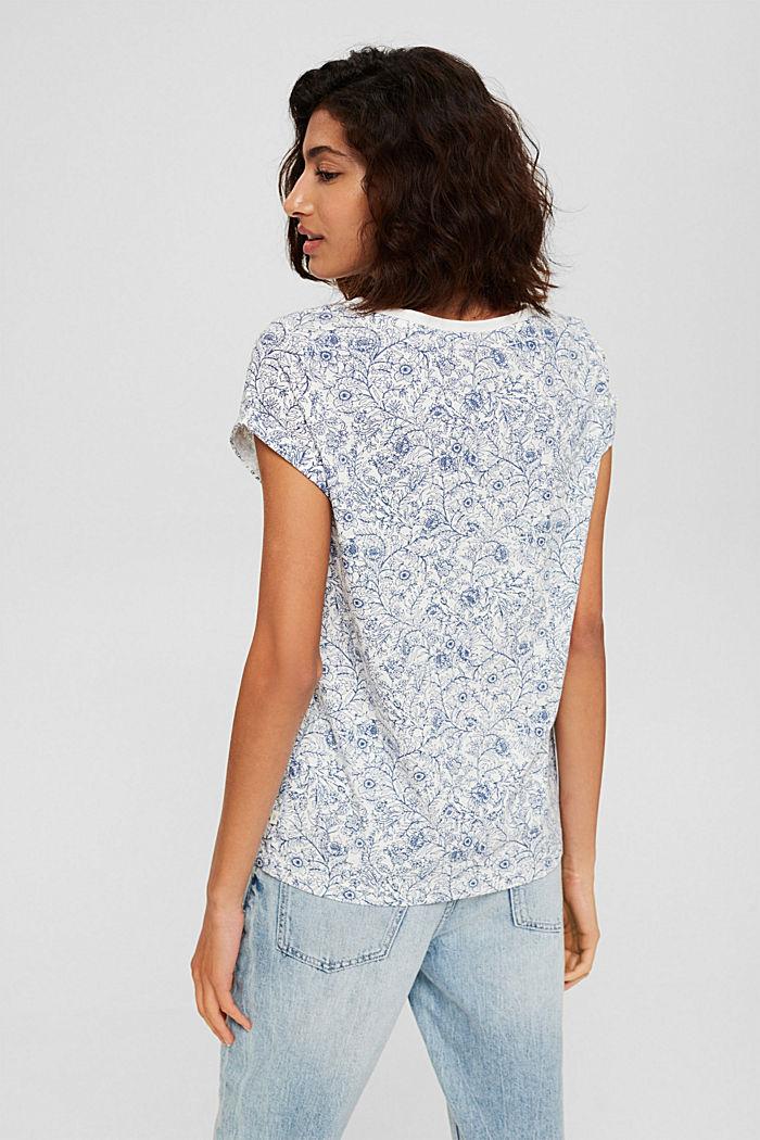 T-Shirt mit Print aus 100% Organic Cotton, OFF WHITE, detail image number 3
