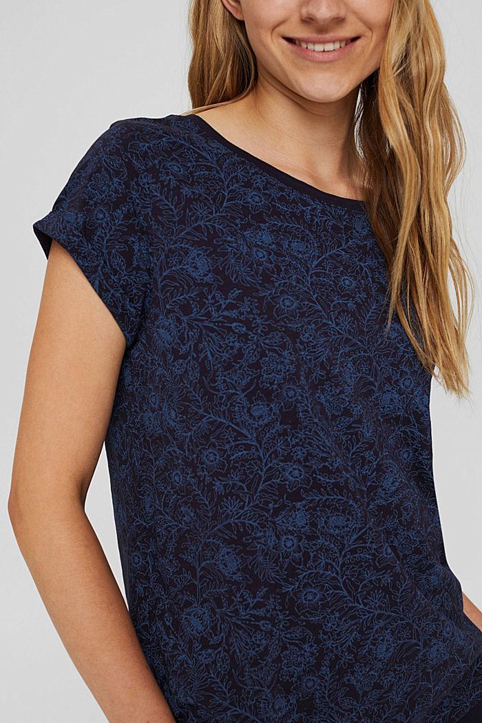 T-Shirt mit Print aus 100% Organic Cotton, NAVY, detail image number 2