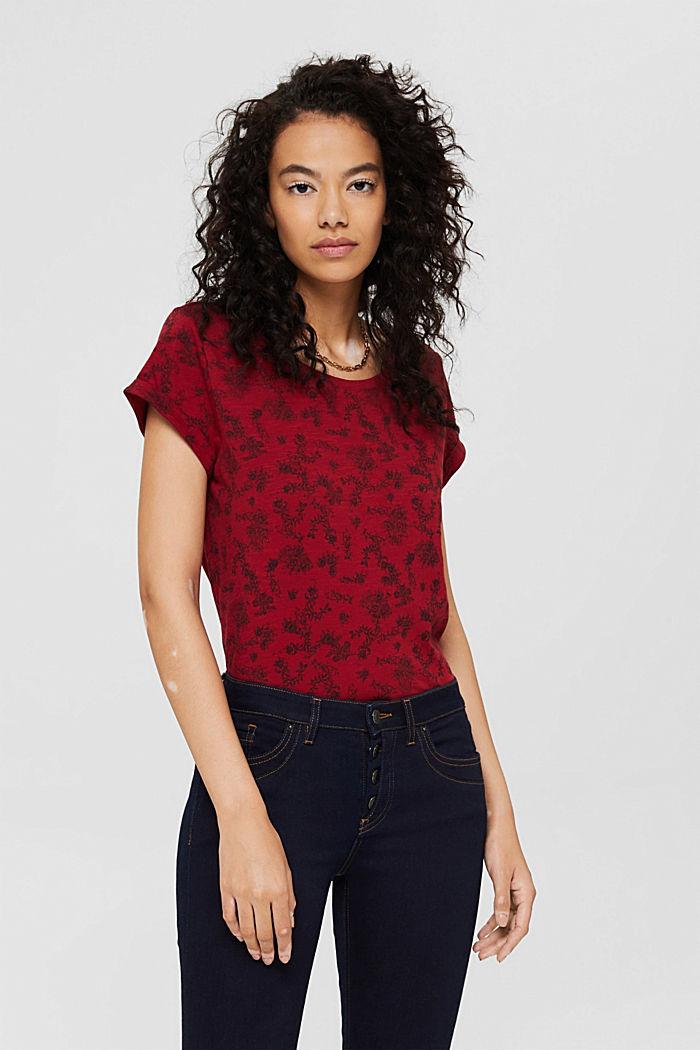 T-shirt à imprimé, 100% coton biologique, DARK RED, detail image number 0