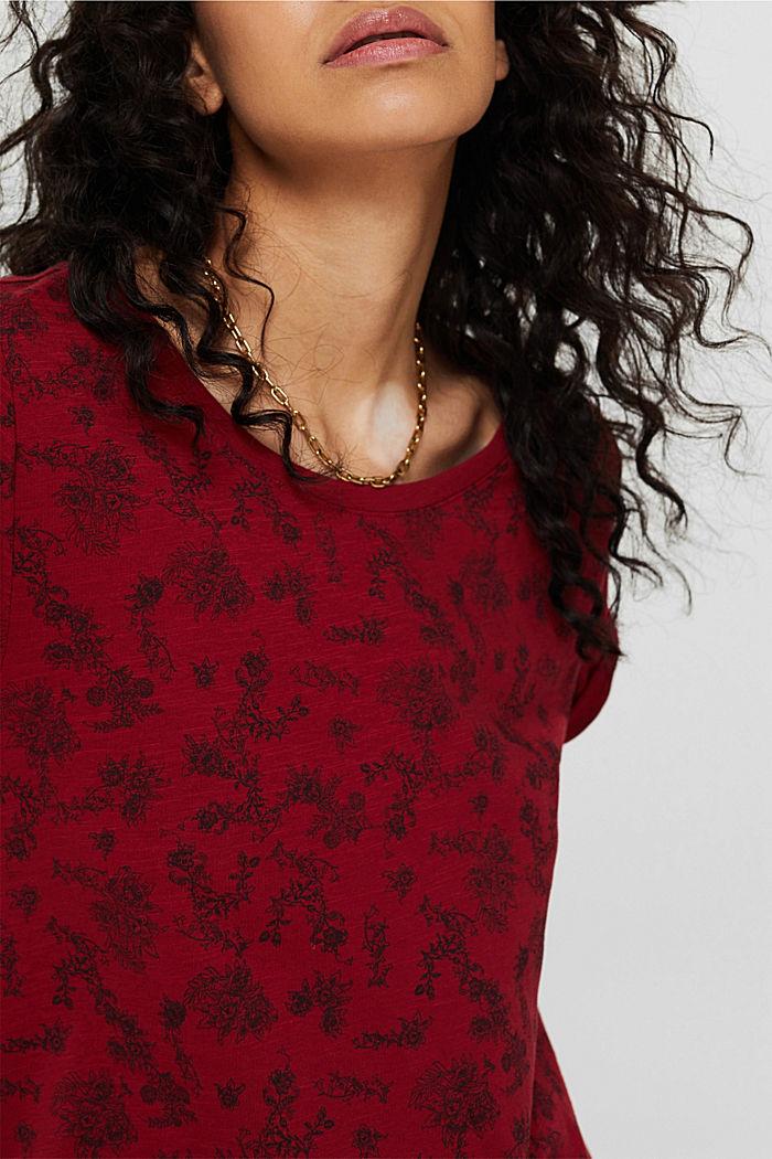 T-shirt à imprimé, 100% coton biologique, DARK RED, detail image number 2