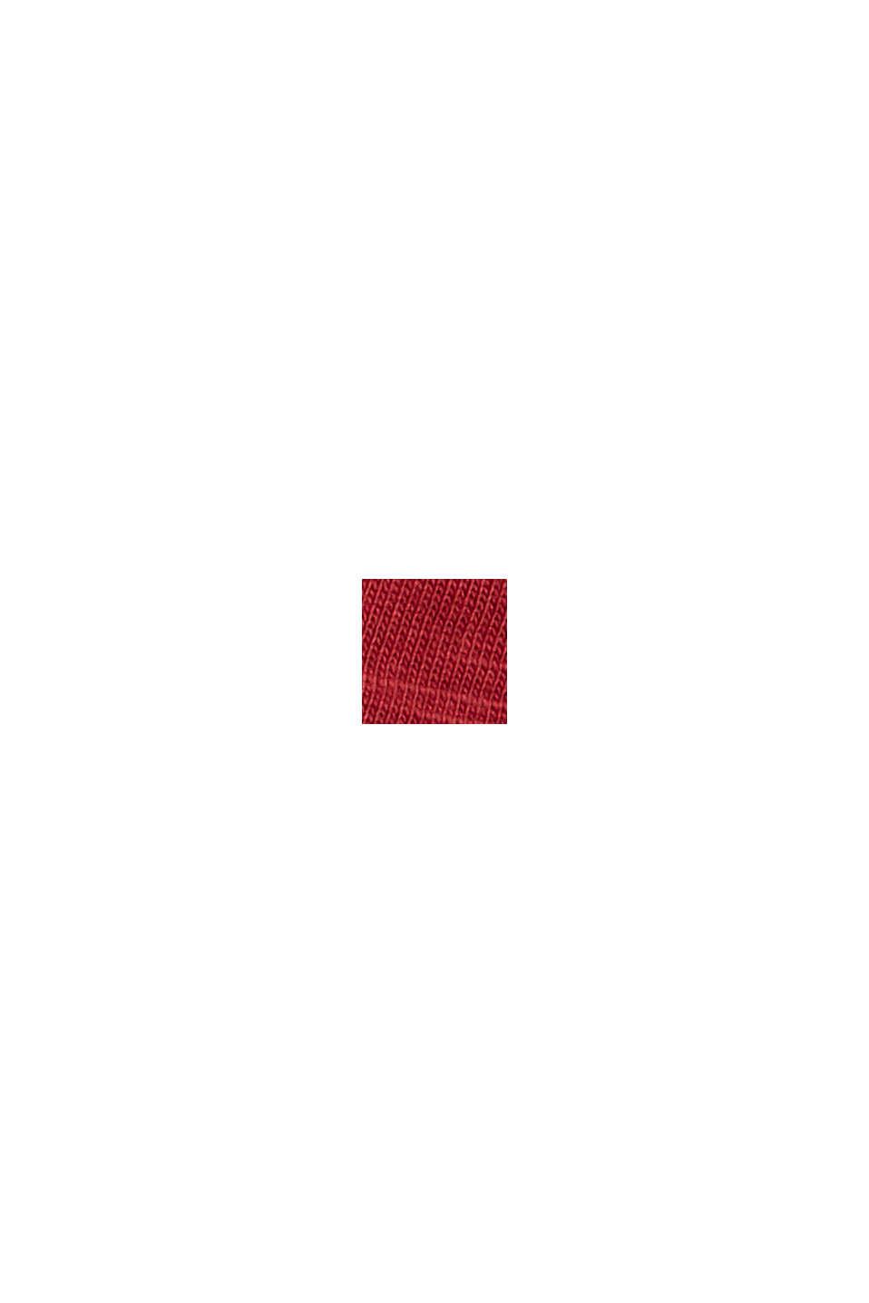 Camiseta con estampado, 100 % algodón ecológico, DARK RED, swatch