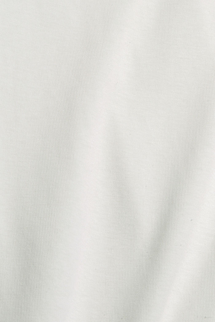 Longsleeve aus 100% Bio-Baumwolle, OFF WHITE, detail image number 4