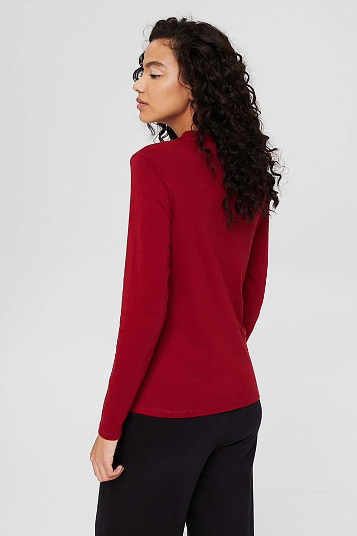Longsleeve aus 100% Bio-Baumwolle, DARK RED, detail image number 3