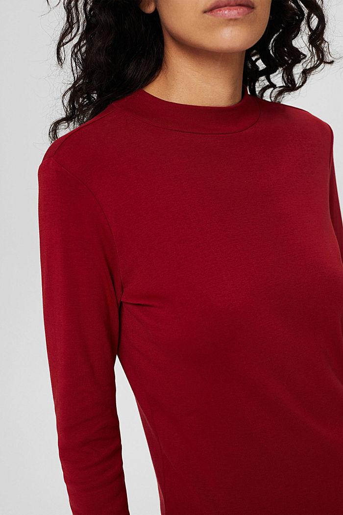 Longsleeve aus 100% Bio-Baumwolle, DARK RED, detail image number 2