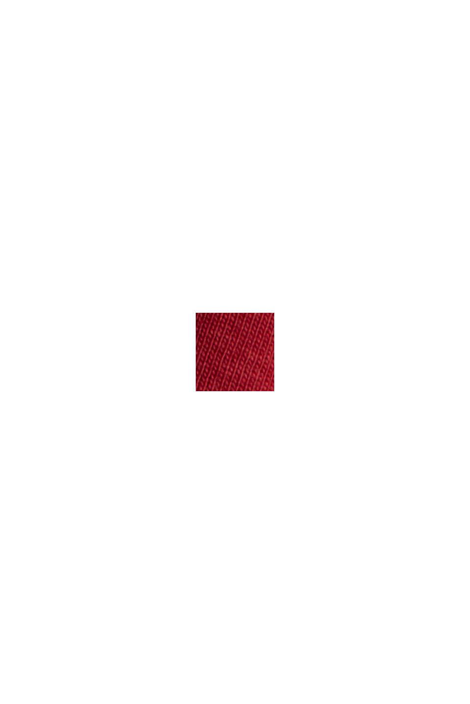 Camiseta de manga larga en 100% algodón ecológico, DARK RED, swatch