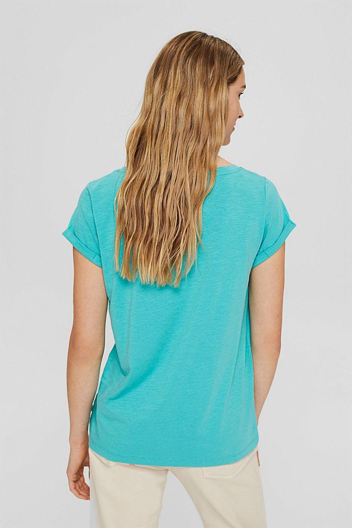 T-shirt van 100% organic cotton, AQUA GREEN, detail image number 3