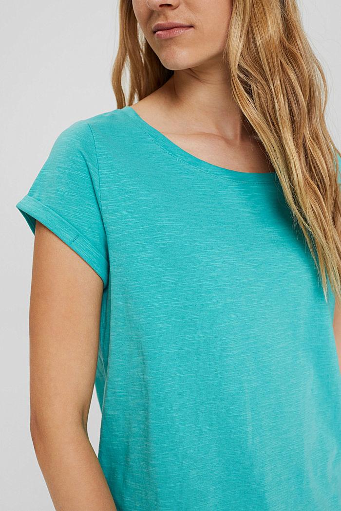 T-shirt van 100% organic cotton, AQUA GREEN, detail image number 2