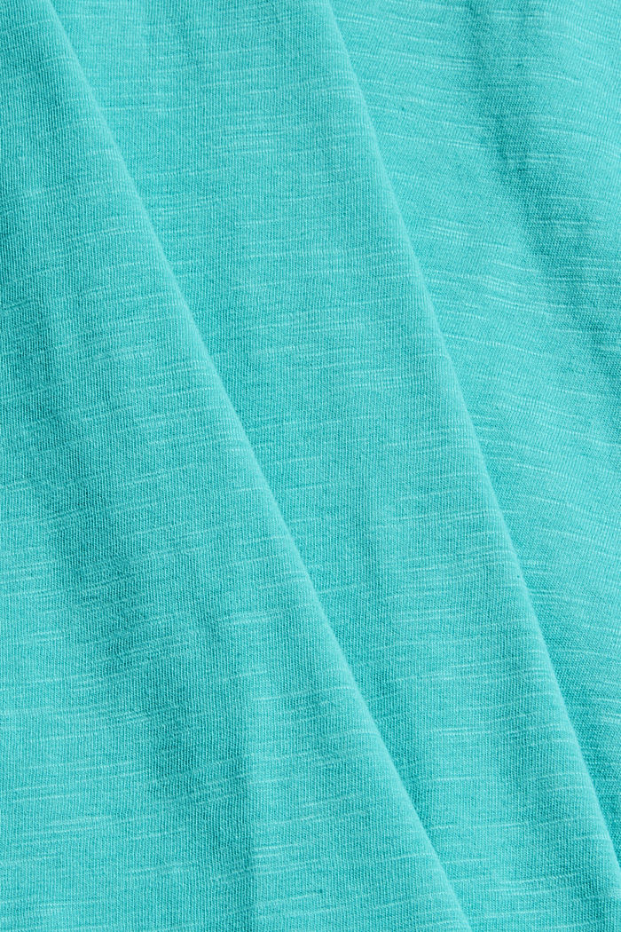 T-shirt van 100% organic cotton, AQUA GREEN, detail image number 4