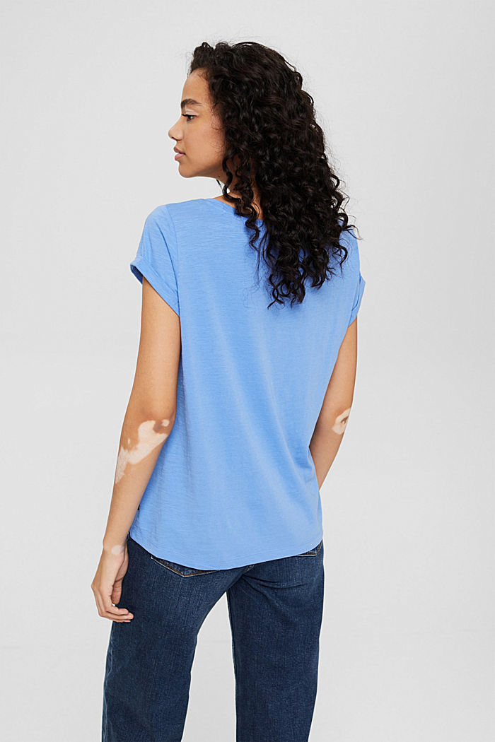 T-shirt made of 100% organic cotton, BRIGHT BLUE, detail image number 3
