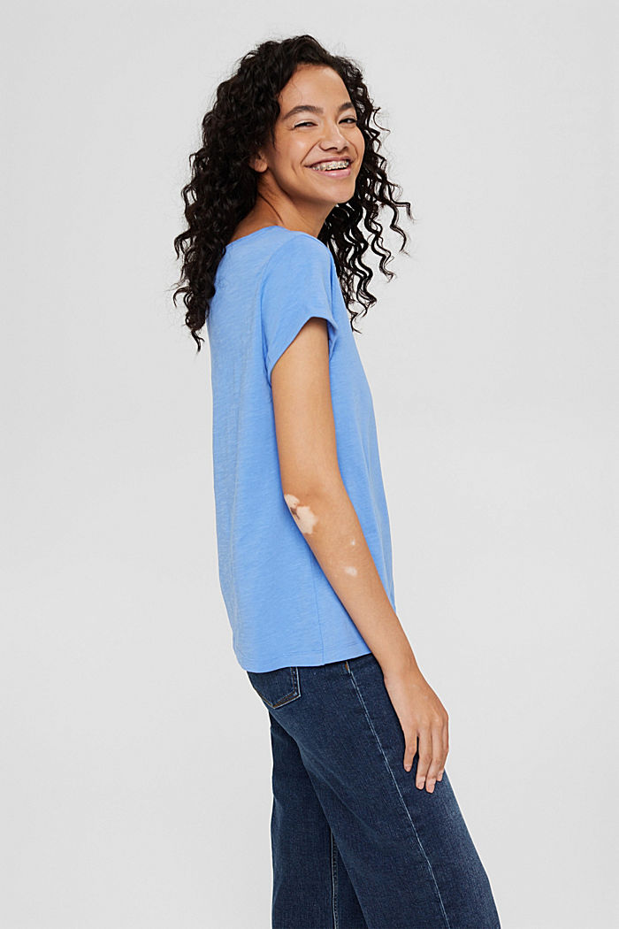 T-shirt made of 100% organic cotton, BRIGHT BLUE, detail image number 5