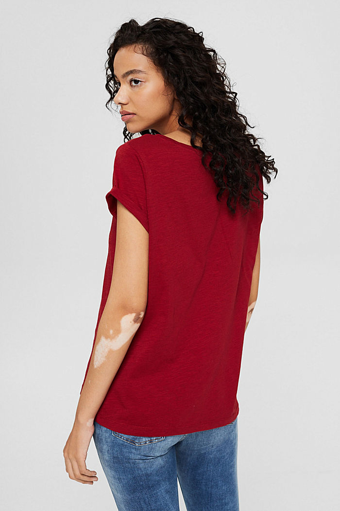 T-shirt 100 % coton biologique, DARK RED, detail image number 3