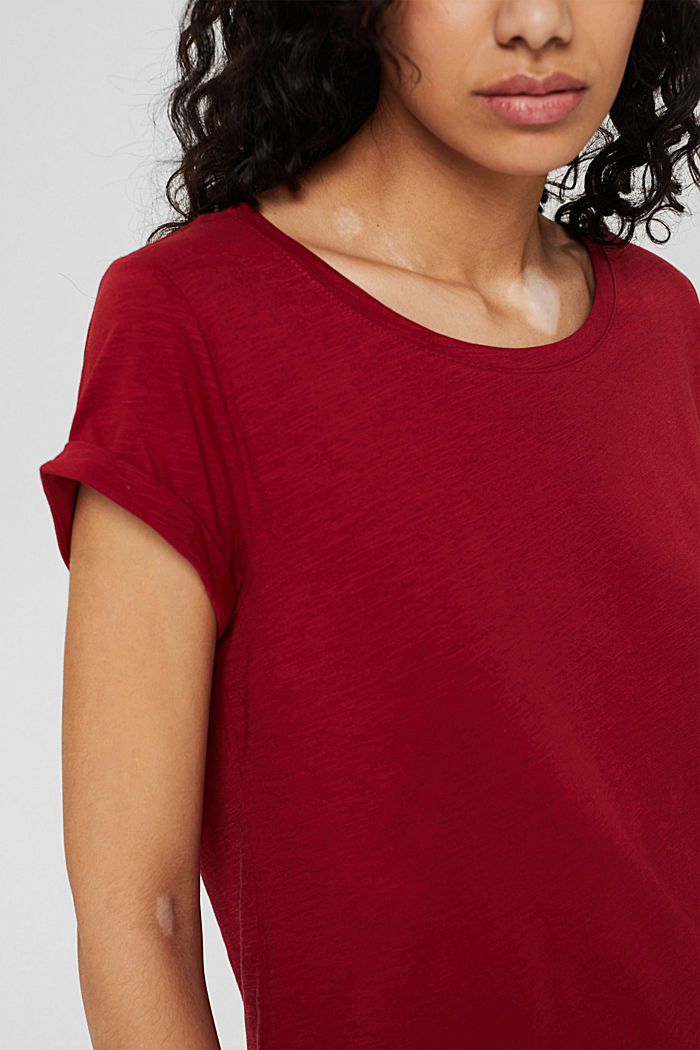 T-shirt 100 % coton biologique, DARK RED, detail image number 2