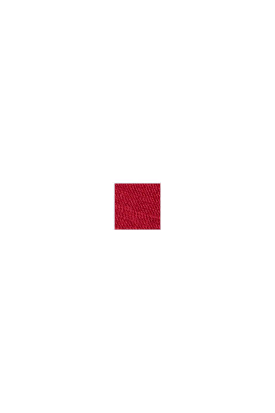 Tričko ze 100% bio bavlny, DARK RED, swatch