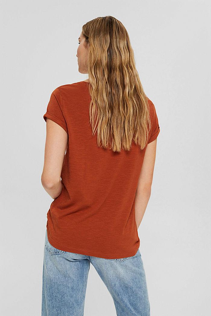 T-shirt made of 100% organic cotton, RUST ORANGE, detail image number 3