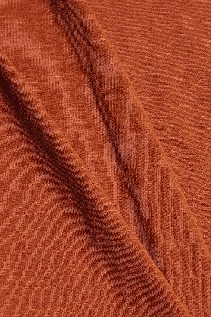 T-shirt made of 100% organic cotton, RUST ORANGE, detail image number 4