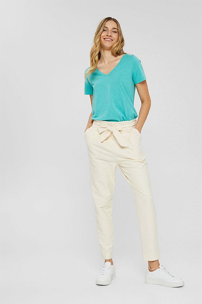 T-Shirt mit V-Neck aus 100% Organic Cotton