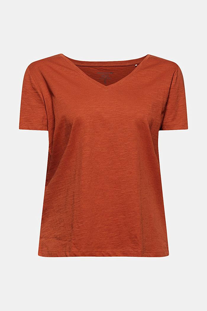 T-shirt met V-hals van 100% biologisch katoen