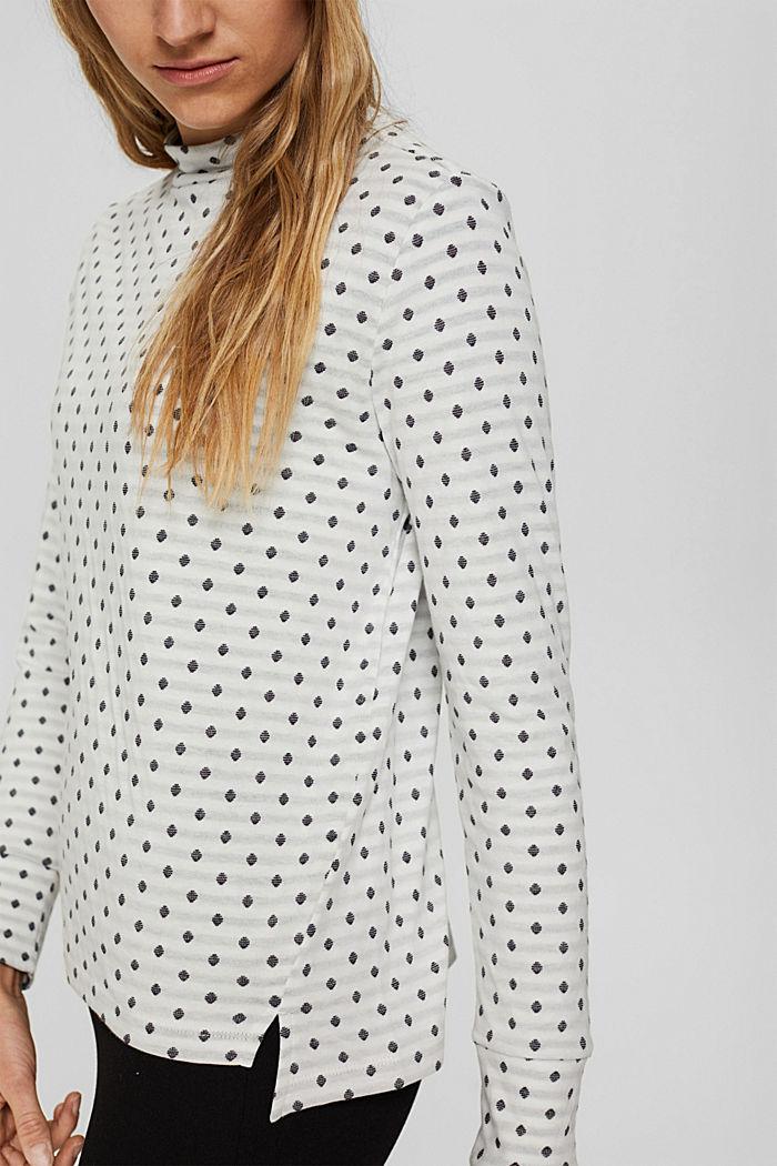 Doubleface-Longsleeve aus 100% Organic Cotton, OFF WHITE, detail image number 2